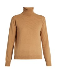 Vince Roll Neck Cashmere Sweater Camel