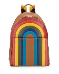 Rainbow Calfskin Leather Backpack Caramel Anya Hindmarch