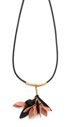 Marni Leather Necklace Misty Rose