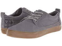 Toms Valdez Frost Grey Suede Cotton Twill Tribal Men's Lace Up Casual Shoes Gray