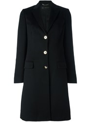 Versace Single Breasted Coat Black