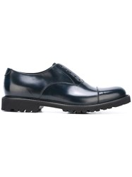 Emporio Armani 'Francesina' Oxford Shoes Blue