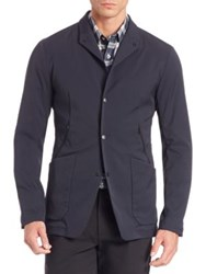 Theory Snap Button Front Jacket Black