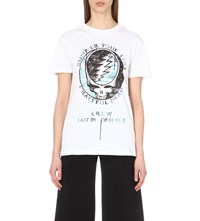 Off White Grateful Dead Cotton Jersey T Shirt White
