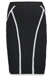 Anna Field Pencil Skirt White Black