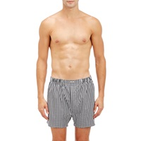 Barneys New York Checked Boxers Wht.Andblk.