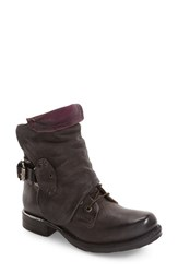 A.S.98 Women's Simon Slouchy Combat Boot Smoke