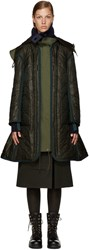 Sacai Green Long Down Coat