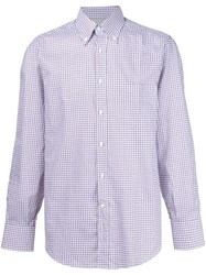Brunello Cucinelli Checked Shirt Red