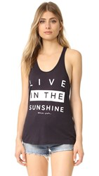 Spiritual Gangster Live In The Sunshine Racer Back Tank Vintage Black