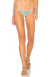 Luli Fama Siren Dance Crystallized Wavey Ruched Back Brazilian Tieside Bottom Blue