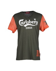Carlsberg T Shirts Military Green