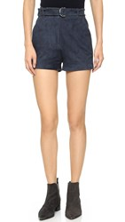 Elizabeth And James Lalette Suede Shorts French Navy