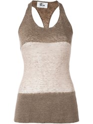 Lost And Found Ria Dunn Thin Tank Top Brown