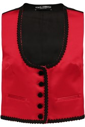 Dolce And Gabbana Embroidered Satin Vest