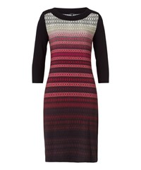 Olsen Printed Jersey Dress Multi Coloured