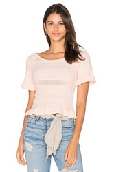 Lucy Paris Trip Knit Top Blush