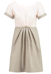 Maxandco. Dipinto Cocktail Dress Party Dress Beige White Pink