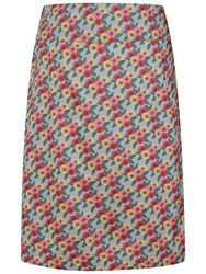 Seasalt Portfolio Reversible A Line Skirt Zinnia Flower Cobble