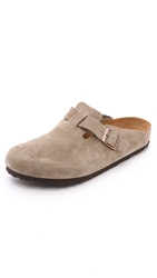 Birkenstock Soft Footbed Boston Clogs Taupe