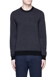 Theory 'Blakes' Melange Merino Wool Sweater Grey