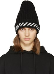 Off White Black Diagonals Beanie