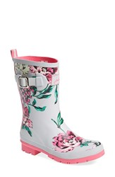 Women's Joules 'Molly' Rain Boot Cool Grey Floral