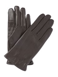 Isotoner Three Point Leather Glove Chocolate