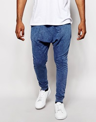 Kubban Joggers In Acid Wash Blue