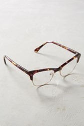 Anthropologie Martina Cateye Glasses Brown Motif