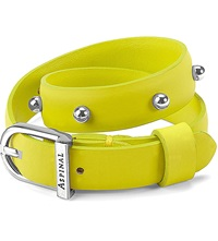 Aspinal Of London Marylebone Buckle Leather Bracelet Yellow