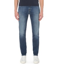 7 For All Mankind Ryan Slim Fit Tapered Jogger Jeans Blue Used