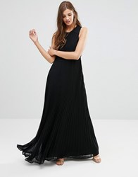 Lavand High Neck Maxi Dress In Black Black