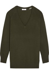 Equipment Asher Oversized Cashmere Sweater Army Green