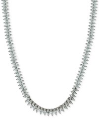 Giani Bernini Cubic Zirconia Marquise Collar Necklace In Sterling Silver Only At Macy's
