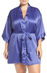 Black Bow Plus Size Women's 'Gem' Satin Robe