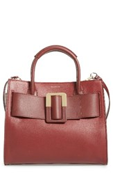 Louise Et Cie Meja Leather Satchel Red Dark Rosso