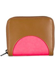 Kenzo 'Curved' Colour Block Wallet Brown