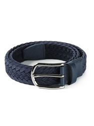 Tod's Braided Buckled Belt Blue