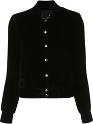 Theperfext Velvet Effect Cropped Jacket Black