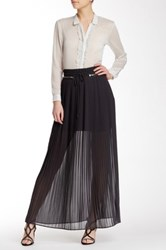 The Kooples Long Pleated Skirt Gray