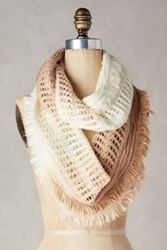 Anthropologie Fringed Ombre Infinity Scarf Nude