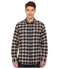 Obey Raymond Woven Top Heather Brown Multi Men's Long Sleeve Button Up Yellow