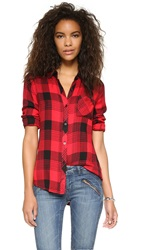 Rails Hunter Button Down Shirt Red Black