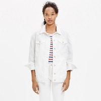 Madewell The Oversized Jean Jacket In White