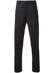 Assin Five Pocket Tapered Trousers Black
