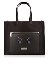 Fendi No Words Nylon And Leather Tote Black Multi