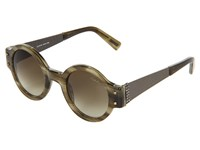 Lanvin Sln512 Olive Green Beige Green Gradient Fashion Sunglasses