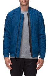 Tavik Men's Defender Water Resistant Ma 1 Bomber Jacket Blue