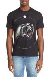Givenchy Men's 'Monkey Brothers' Graphic T Shirt